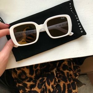 Quay Australia Accessories - Brand new white sunglasses